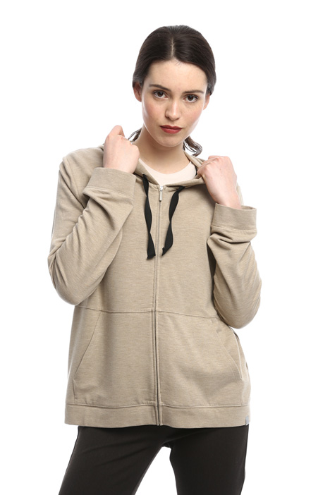 Hooded sweatshirt with zip Diffusione Tessile