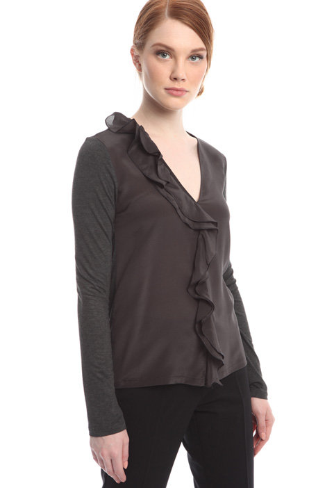 Silk and jersey T-shirt Diffusione Tessile