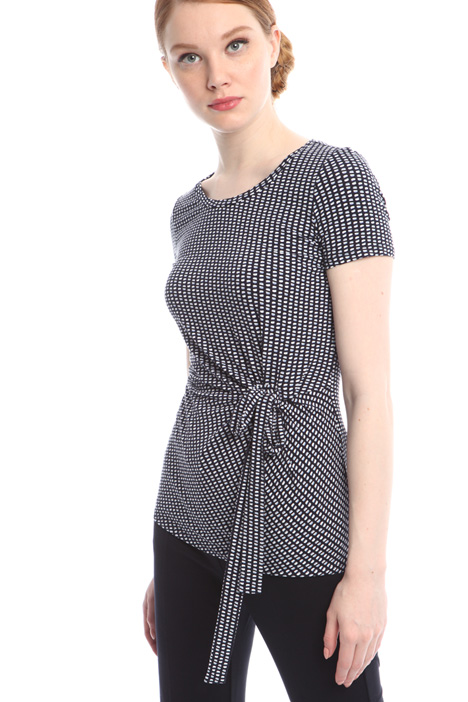 Lace-up top Diffusione Tessile