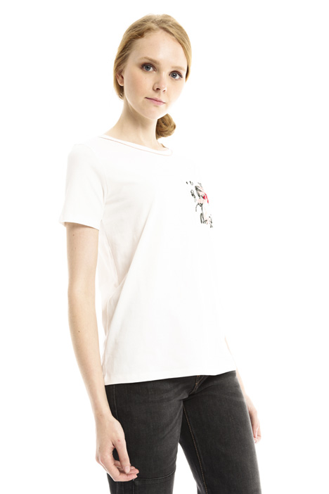 T-shirt con taschino ricamato Diffusione Tessile