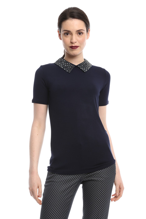 Removable collar T-shirt Intrend