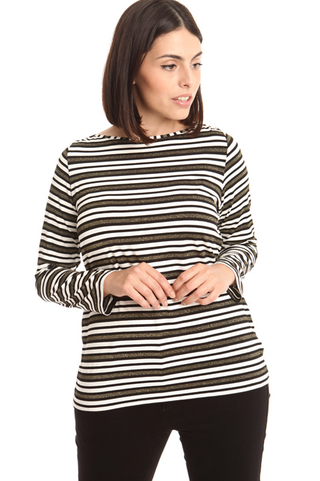 Patterned jersey T-shirt Diffusione Tessile