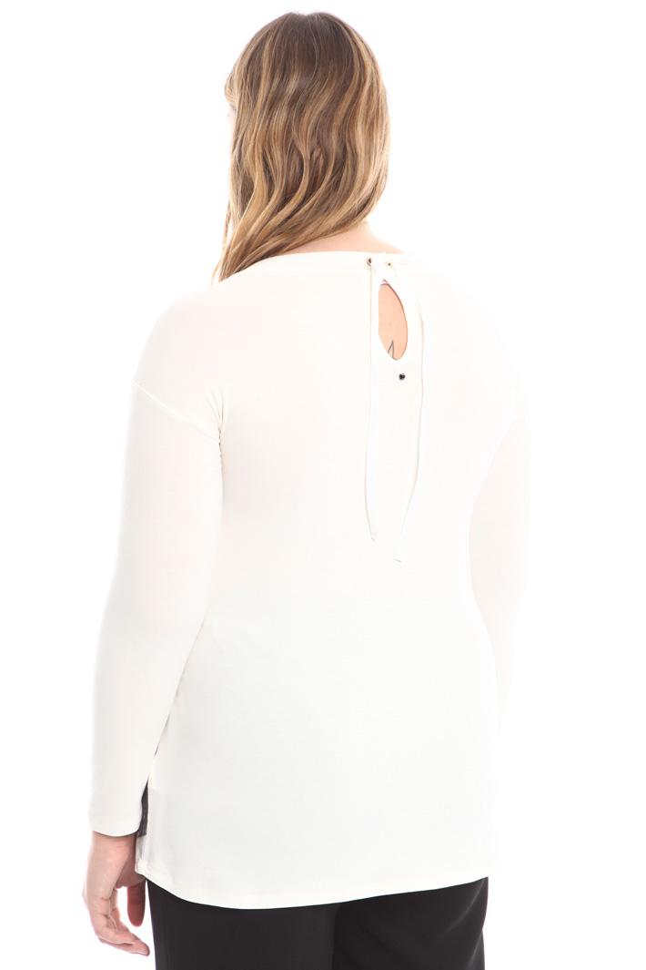 T-shirt in jersey con velluto Diffusione Tessile