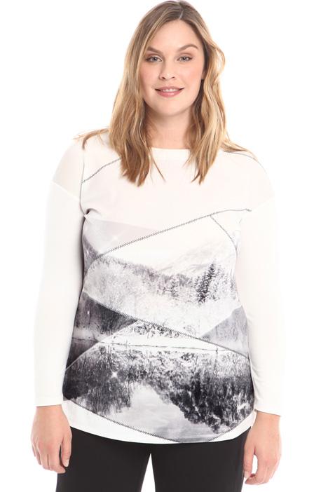 Velvet jersey T-shirt Intrend