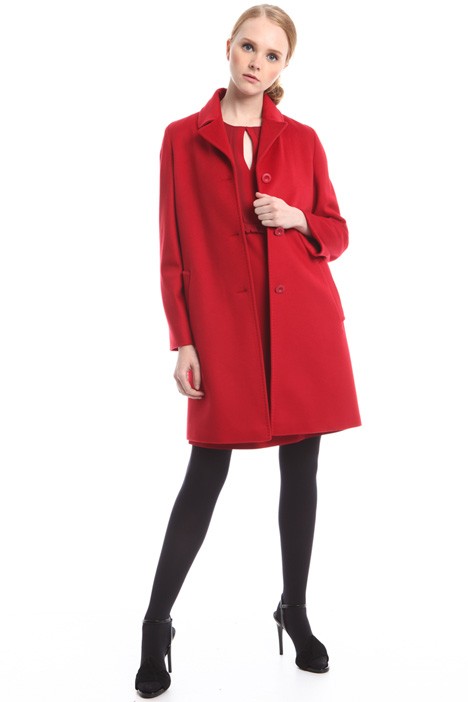 Lined coat in drap Diffusione Tessile