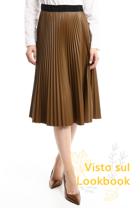 Plissé leather-effect skirt Diffusione Tessile