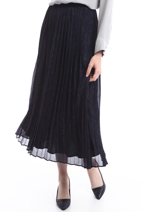 Pleated georgette skirt Diffusione Tessile