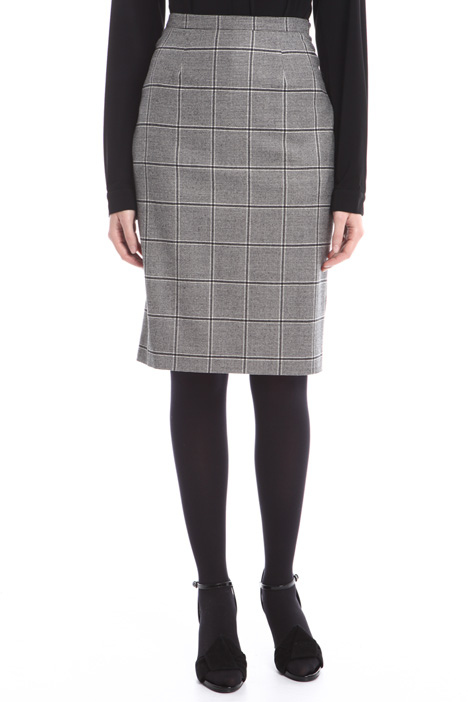 Prince of Wales pencil skirt Diffusione Tessile