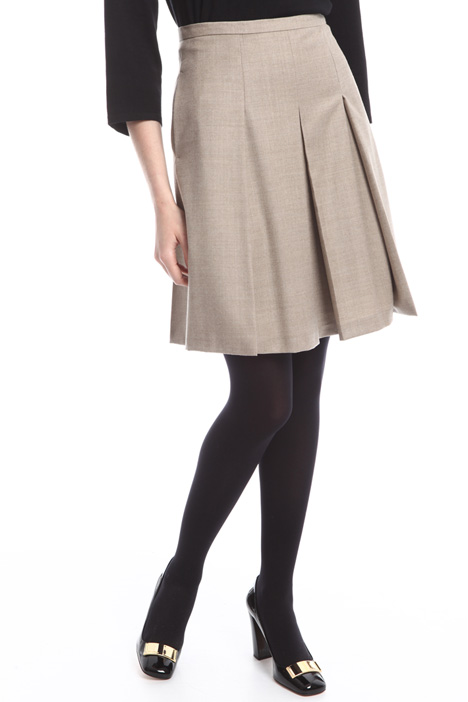 Short flannel skirt Diffusione Tessile