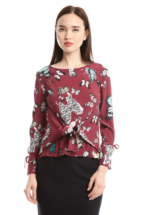 Blusa in marocain con nastri Diffusione Tessile