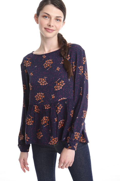 Patterned crepe blouse Diffusione Tessile
