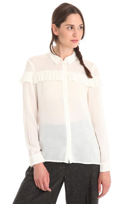 Camicia in garza con rouches Diffusione Tessile
