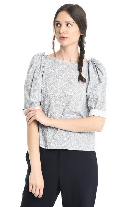 Blusa in popeline stretch Diffusione Tessile