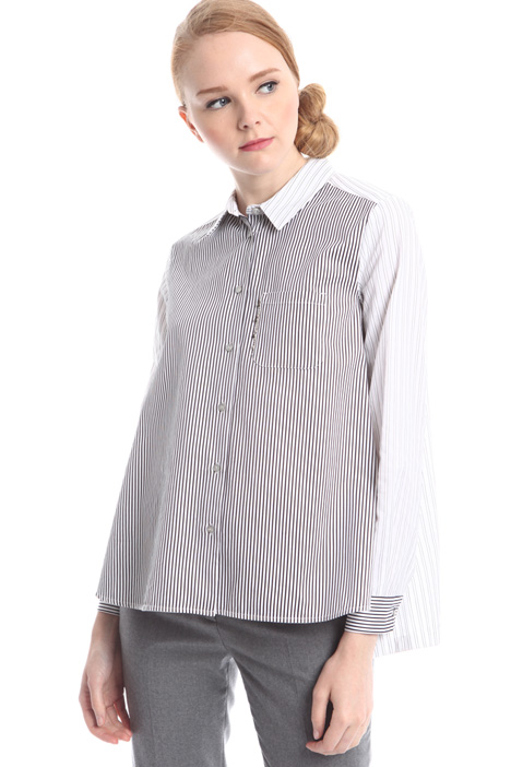 Pure cotton shirt with stripes Intrend