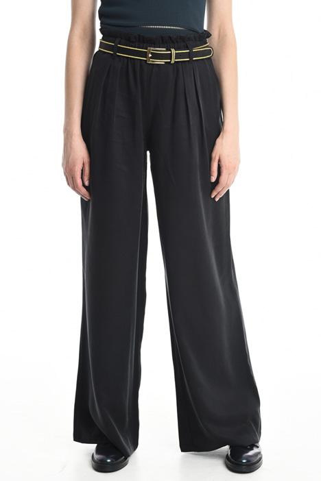 Pantaloni palazzo a vita alta Diffusione Tessile
