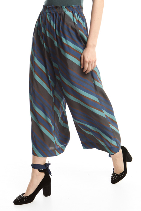 Printed cropped trousers Diffusione Tessile