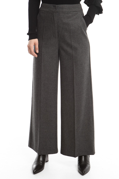 Yarn-dyed palazzo trousers Diffusione Tessile