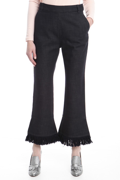 Flared trousers with fringes Diffusione Tessile