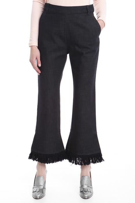 Pantalone flared con frange Diffusione Tessile