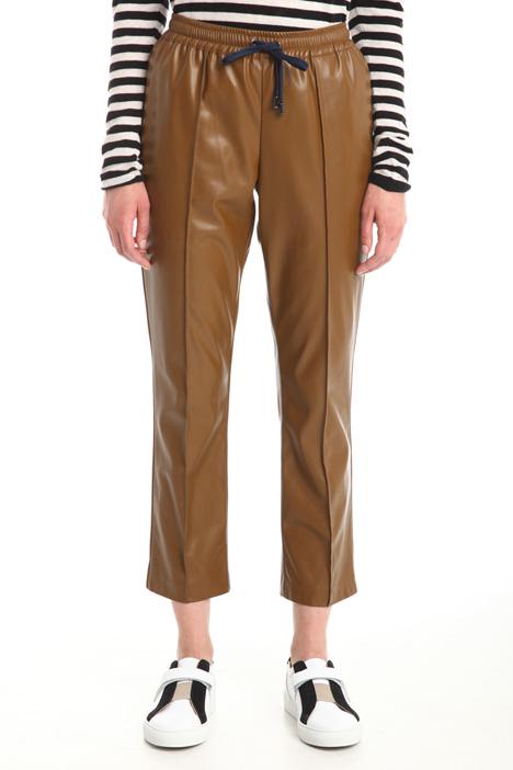 Pantaloni spalmati con tasche