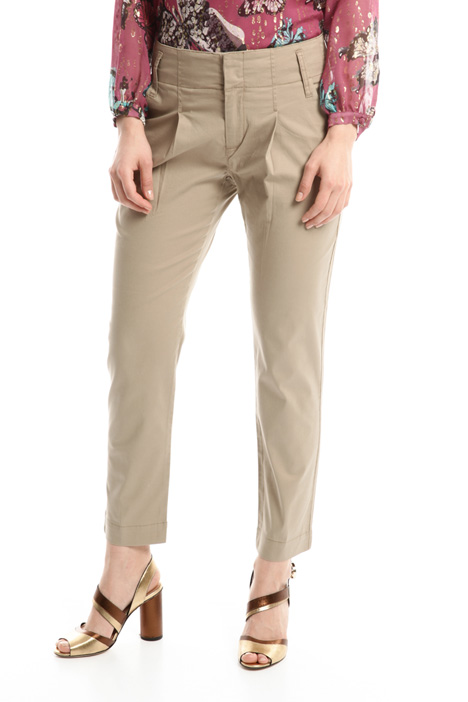 Stretch gabardine trousers Diffusione Tessile