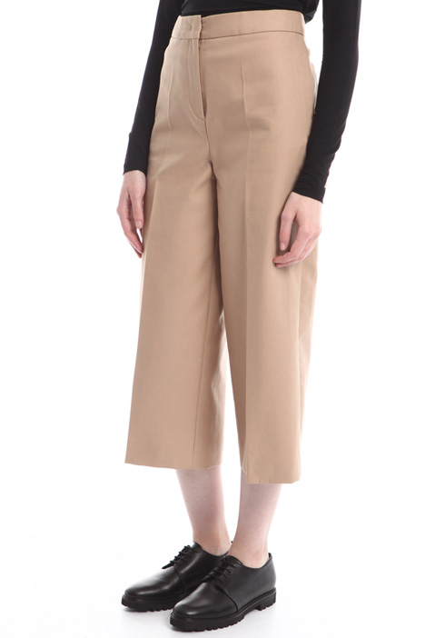 Pantaloni cropped a vita alta Diffusione Tessile