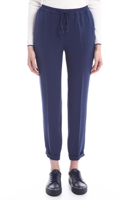 Drawstring trousers in cady Diffusione Tessile