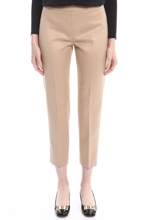 Cropped jacquard trousers Diffusione Tessile