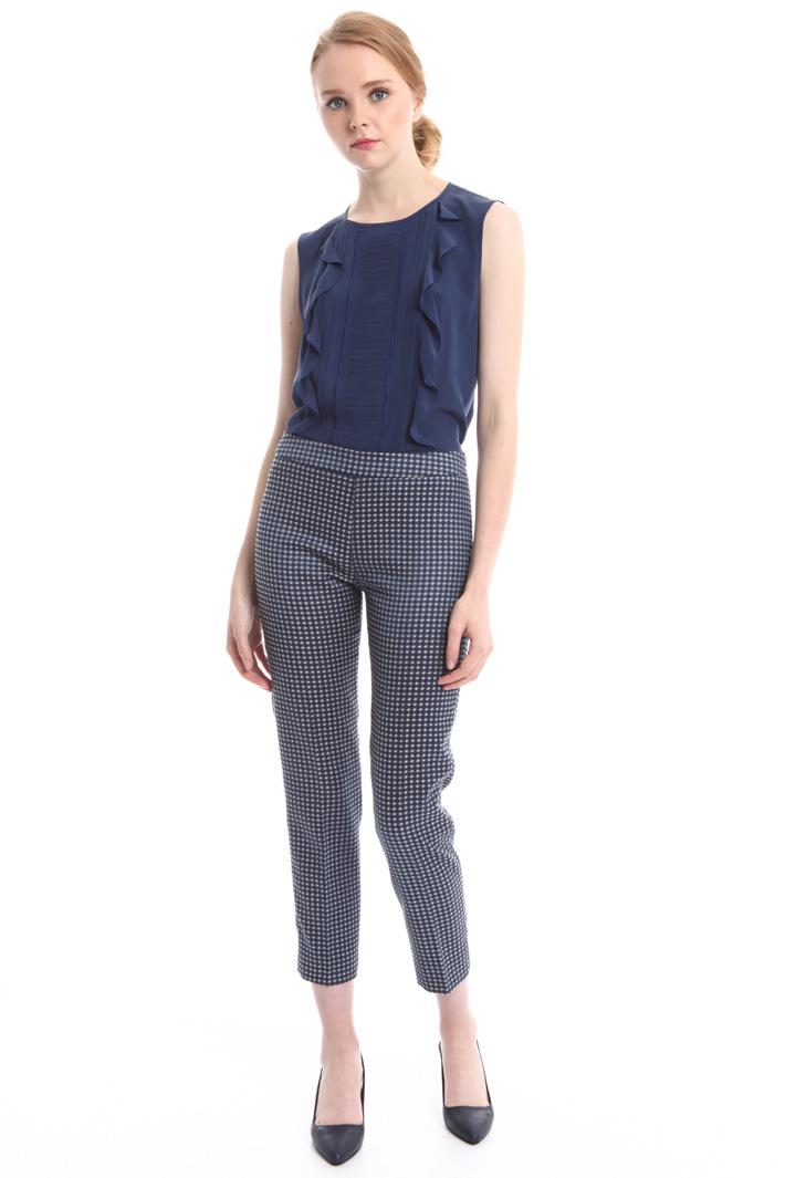 Pantaloni cropped jacquard Diffusione Tessile