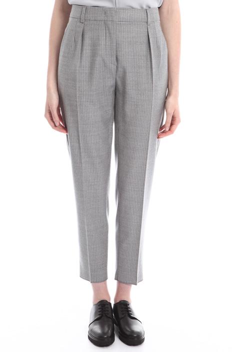 Pantaloni dritti in flanella Diffusione Tessile