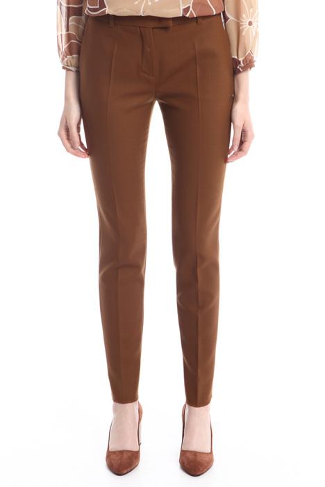 Pantaloni a sigaretta in lana Diffusione Tessile