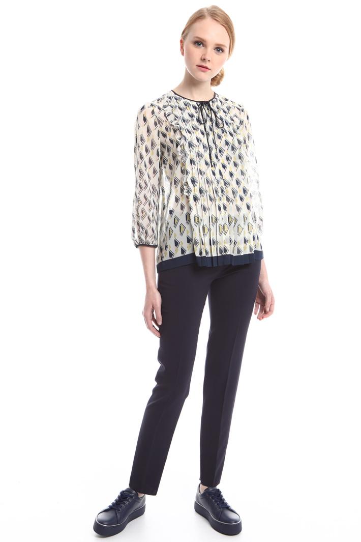 Pantaloni in crepe di lana Diffusione Tessile
