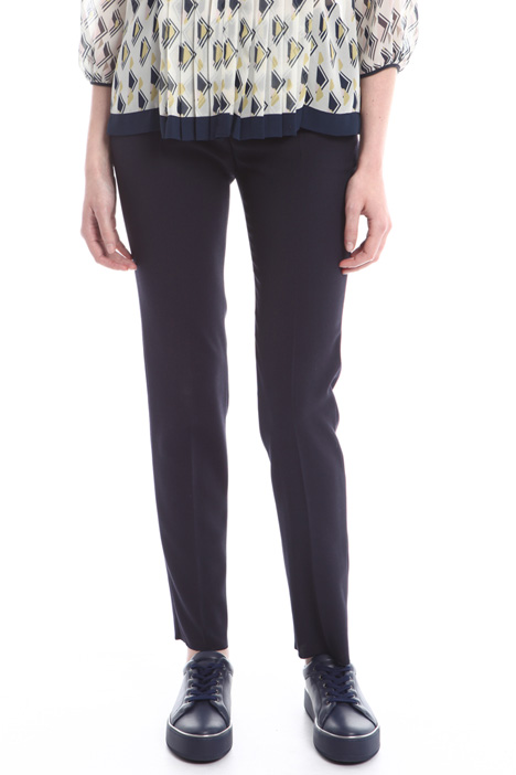 Wool crepe trousers Diffusione Tessile