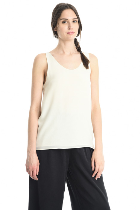 Double-crepe top Intrend