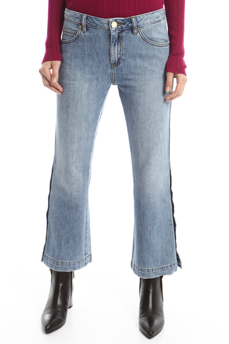 Buttoned flared jeans Diffusione Tessile