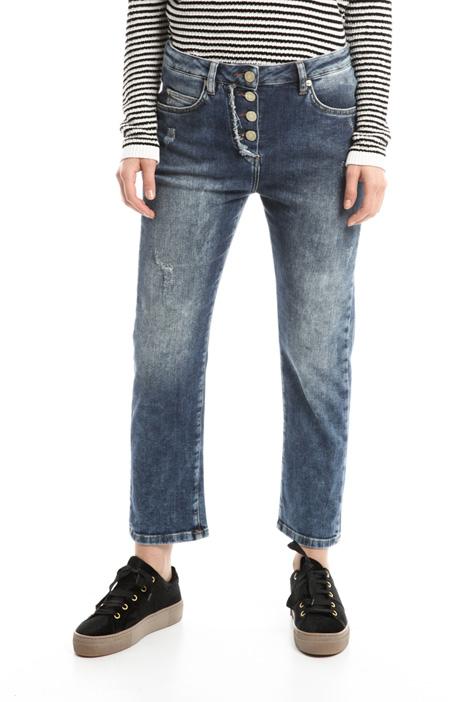 Jeans boyfriend in denim Diffusione Tessile