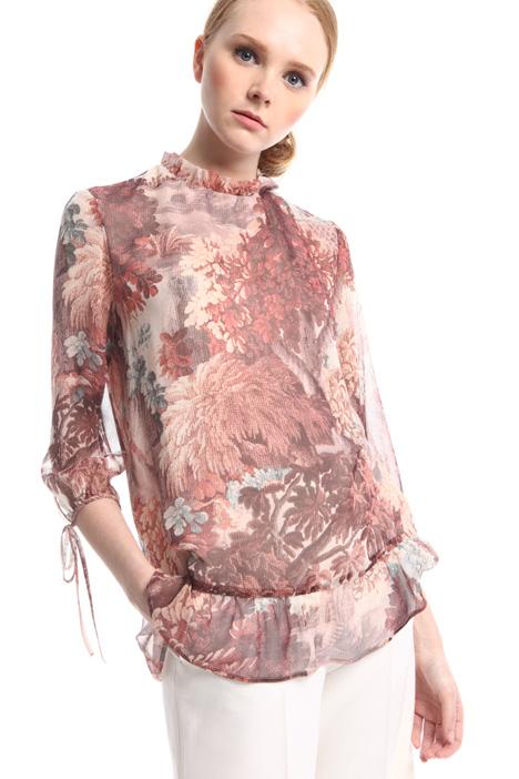 Blusa in georgette di seta Diffusione Tessile
