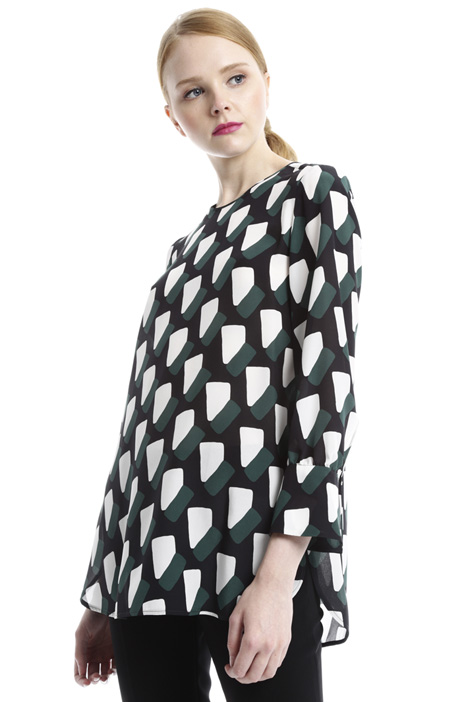 Geometric pattern tunic Diffusione Tessile