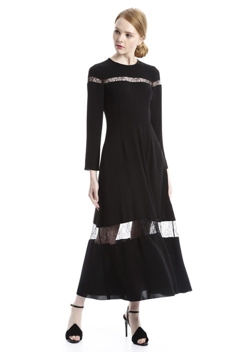 Long dress with sheer inserts Intrend