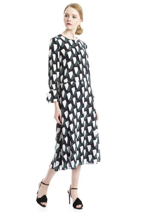 Dress with geometric print Diffusione Tessile