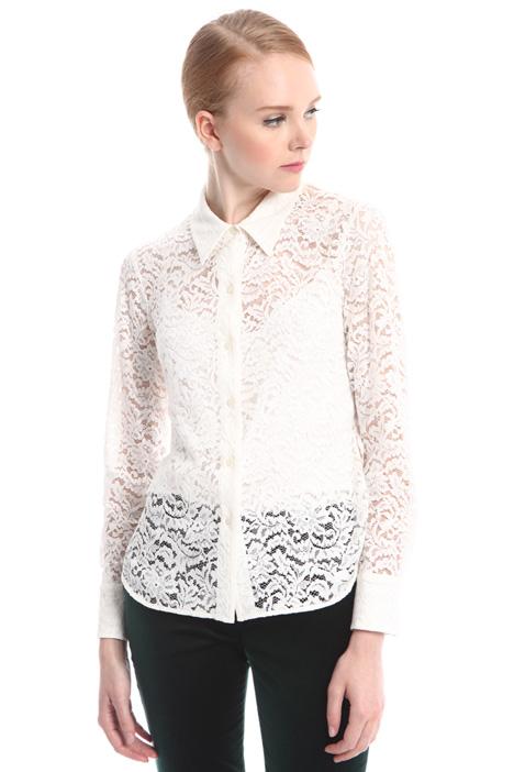 Camicia in pizzo con top Diffusione Tessile