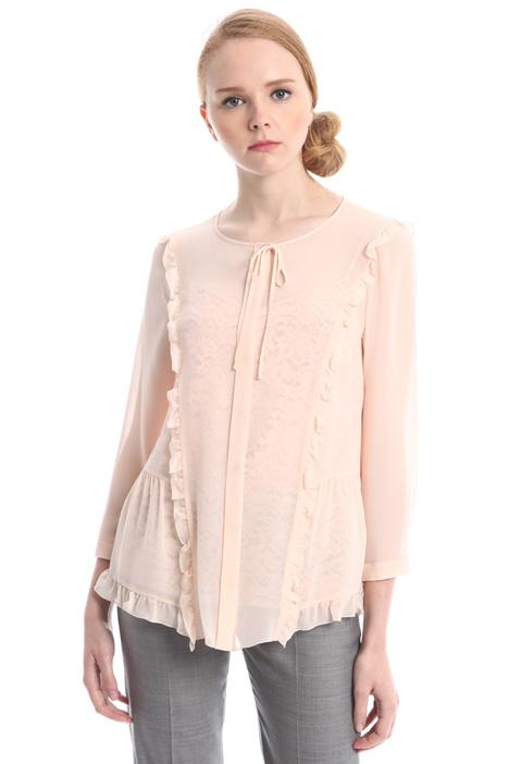 Blusa in georgette con top Diffusione Tessile