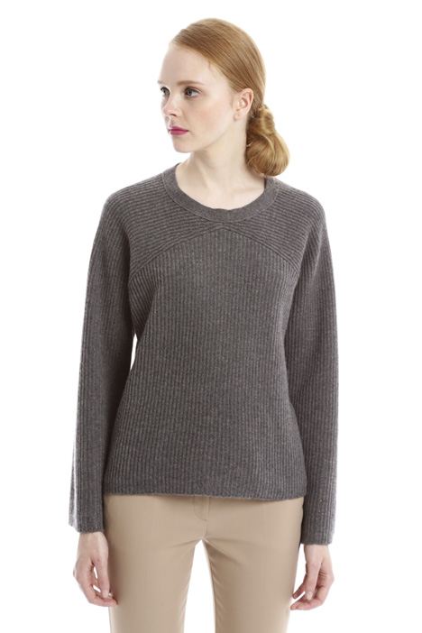 Rib worked sweater Diffusione Tessile