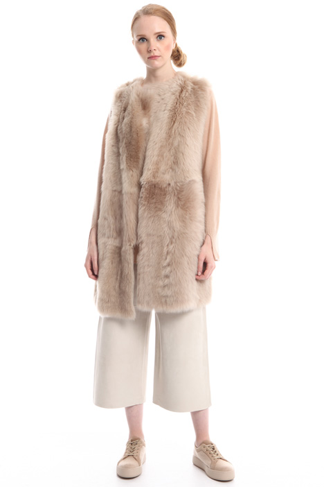 Reversible fur vest Intrend