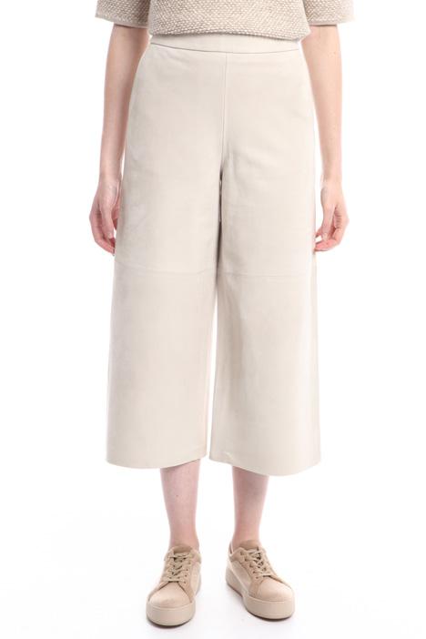 Pantaloni svasati in pelle Diffusione Tessile