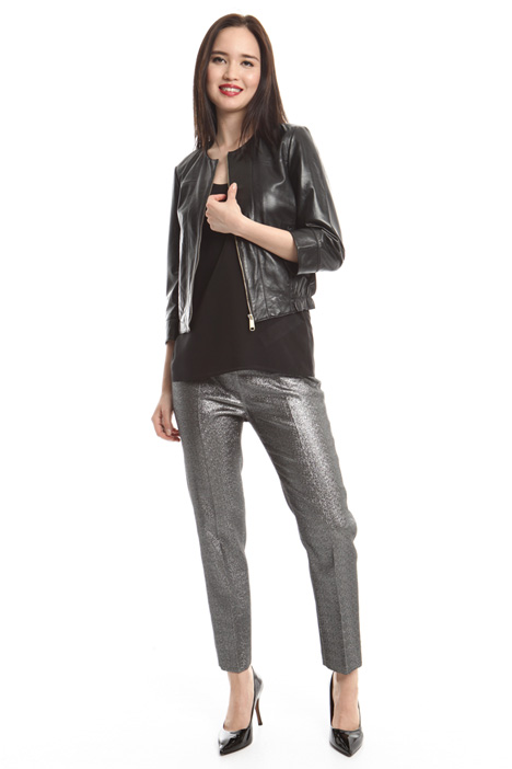 Leather bomber jacket Diffusione Tessile
