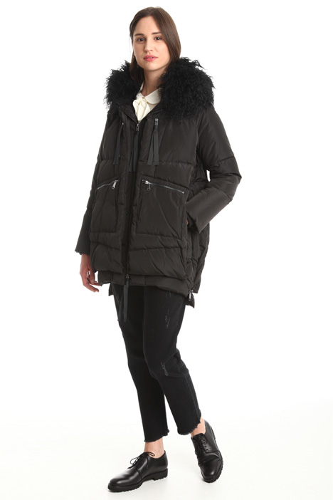 Fur hooded coat Diffusione Tessile