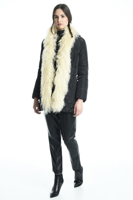 Fur insert down coat Diffusione Tessile
