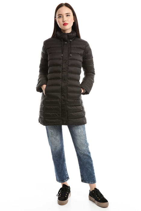 Slim-fit quilted down coat Diffusione Tessile