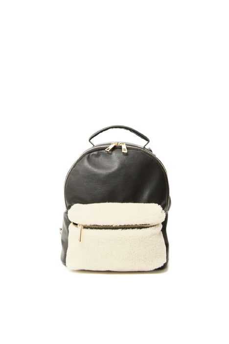 Leatherette backpack Intrend